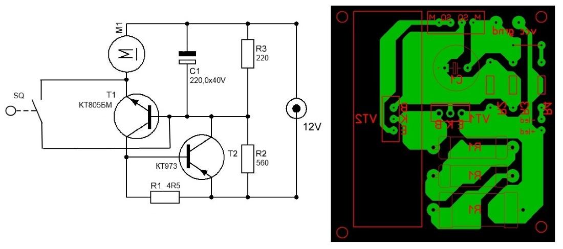 Регулятор оборотов электродвигателя 12в своими руками схема